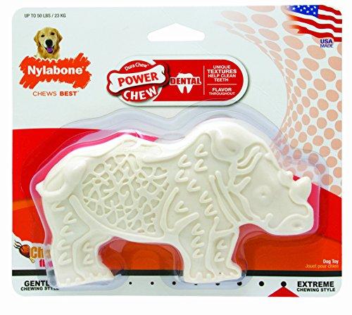 Nylabone Dental Chew Chicken Flavored Rhino Dog Chew Toy, Medium