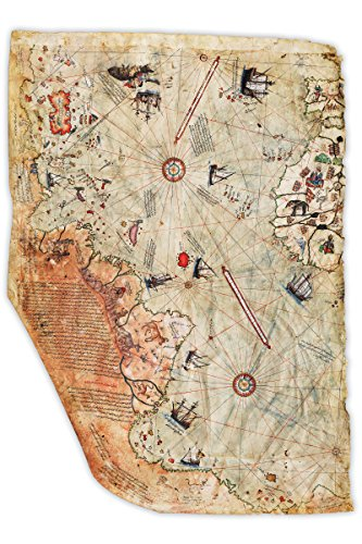 Historical Reproductions Map (Ottoman Empire Map; Historical 1513 Piri Reis Reproduction)