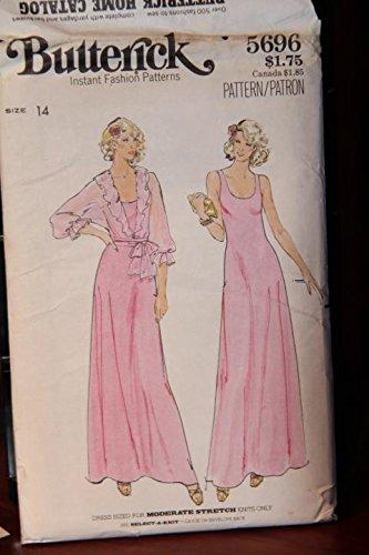 (Vintage Butterick Pattern 5696 Size 14 - Misses' Dress & Jacket (uncut, unused pattern))