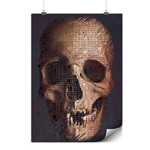 wellcoda Dead Human Rock Skull Poster Costume A0 (33″ x 47″) Matte Heavy Weight Paper, Ideal for Framing, Easy to Hang Art