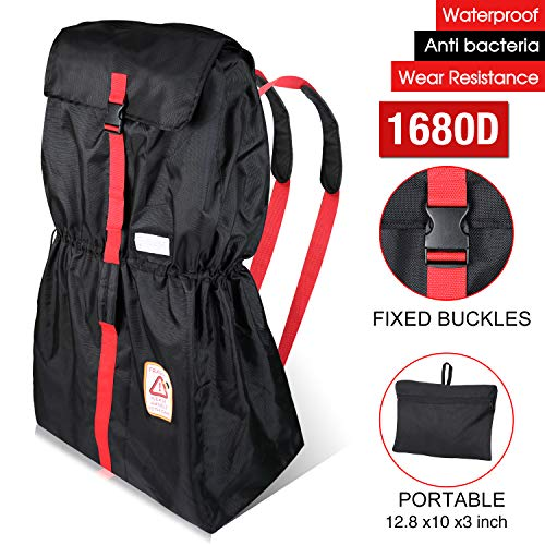 MODOKIT 1680D Durable Gate Check Bag Bundle for Car Seat and Stroller, Car Seat Travel Bag + Stroller Bag for Airplane with Storage Pouch, Waterproof and Heavy Duty Material
