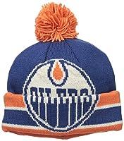 NHL Edmonton Oilers Men's CCM Cuffed Pom Knit Cap, One Size, Blue
