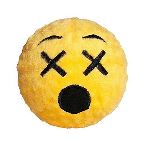 Image of fabdog Astonished Emoji faball Squeaky Dog Toy (Medium)