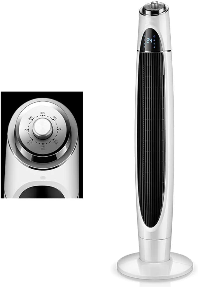 XM&LZ 3 Speeds Oscillating Bladeless Fan,Standing Tower Fan with Knob Control,Super Quiet Air Conditioner Fan,Personal Space Air Cooler Machinery