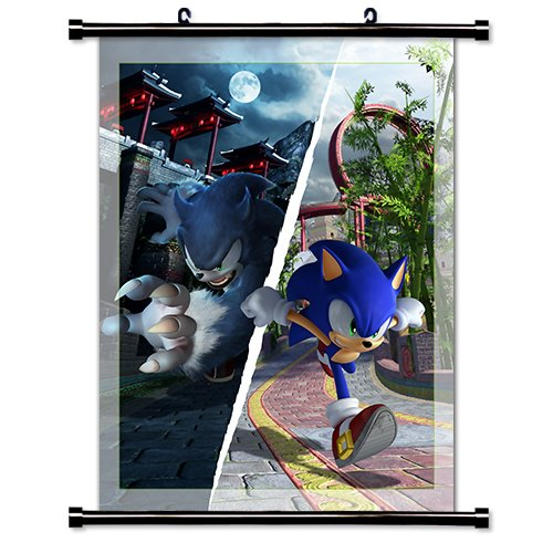 1 X Sonic The Hedgehog Game Fabric Wall Scroll Poster  Inche