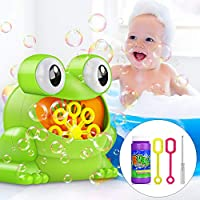 Tencoz Bubble Machine, Automatic Handheld Bubble Maker Toy for Kids Baby Toddlers Bath Parties Wedding
