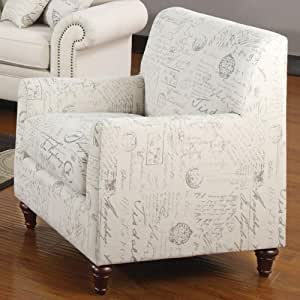 Coaster Home Furnishings Traditional Chair, Cream