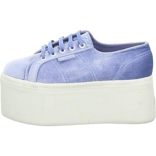 Superga - Zapatillas de Tela para Hombre, Color Azul, Talla 36 EU