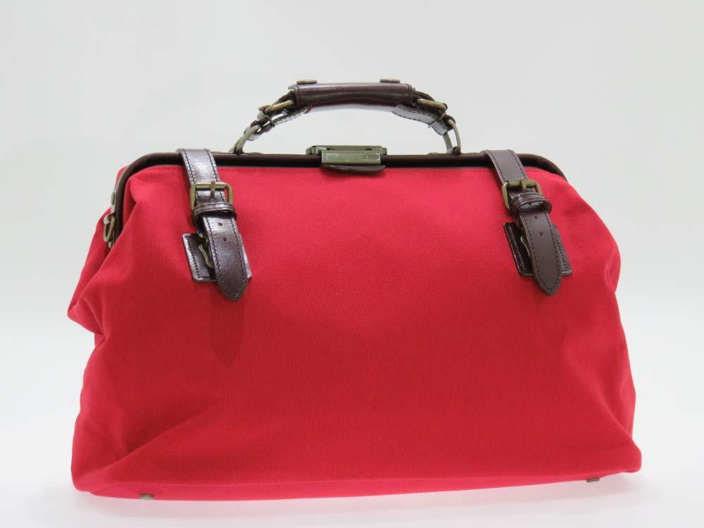 日本製 帆布ダレスボストンバッグ 中 赤 B07H9KTYY9