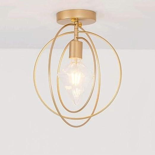 WPOLED Lámparas de techo nórdicas redondas creativas clásicas E27 ...