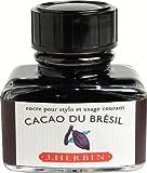 J. Herbin 30 ml Bottle Fountain Pen Ink, Cacao du Bresil