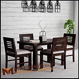 MV Furniture Wooden Dining Set 4 Seater