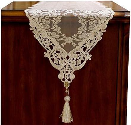レーステーブルランナーピアノカバー布結婚式テーブルdecor-golden