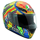 AGV K3 5-Continents Helmet , Distinct Name: 5-Continents, Gender: Mens/Unisex, Helmet Category: Street, Helmet Type: Full-face Helmets, Primary Color: Blue, Size: Lg 032150A0015009