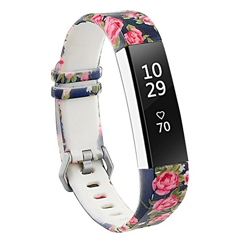 RedTaro Bands Compatible with Fitbit Alta/Fitbit Alta HR,Blue Floral,Standard Size for 5.5