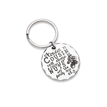 Christmas Gifts For Cousin Keychain Personalised Birthday Present Family Tree Stocking Stuffers Key Ring