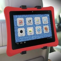 """Car Back Seat Headrest Mount Holder for iPad Pro 12.9 and 9.7, iPad Air, iPad Mini, Samsung Galaxy Tab, Google Pixel C, Sony Xperia Z4, Z3, Nexus 9, Microsoft Surface, Nabi and Other 7"""" to 13"""" Tablets by Gear Beast"""