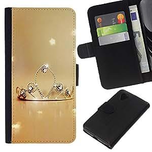 KLONGSHOP // Tirón de la caja Cartera de cuero con ranuras para tarjetas - Naturaleza Princesa - LG Nexus 5 D820 D821 //