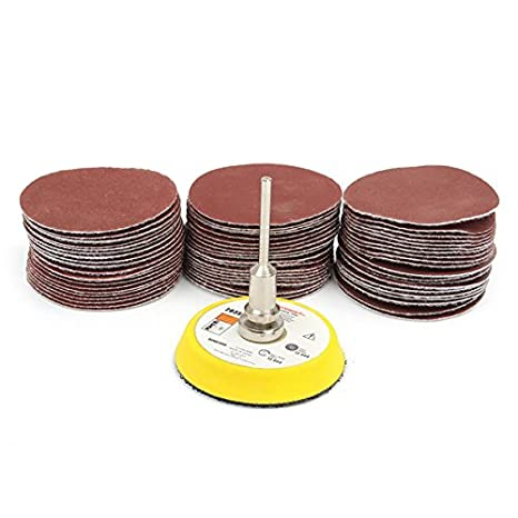 2 inch 100 Pcs 40-400 Grit Sandpaper with Polishing Pad and Shank