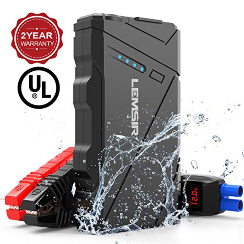 SP 800A Peak 12V Portable Car Lithium Jump Starter up to 7.2L Gas and 6.0L Diesel Auto Battery Booster Phone Charger Power Pack withSmart Jumper Cables L6 ()