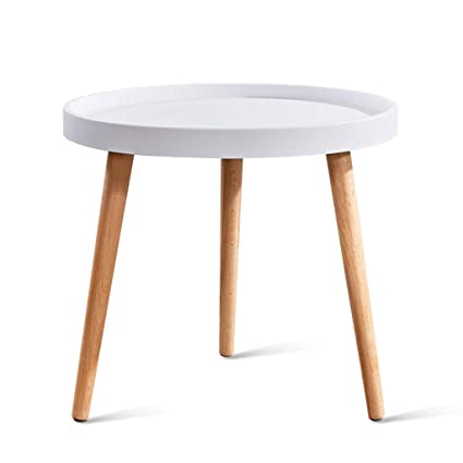 Amazon.com: HY Mini Side Round Table - Living Room Small Coffee ...