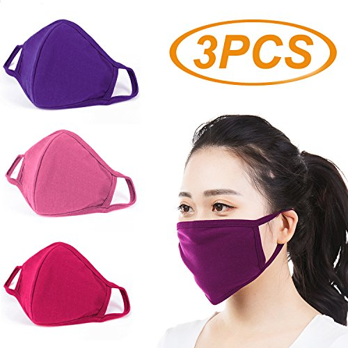 3 Pcs Activated Carbon Anti Dust Face Mouth Mask, WITERY Warm Anti Dust Mask Anti-fog Mask Antibacterial Activated Carbon Earloop Mouth Mask Face Masks for Men Women