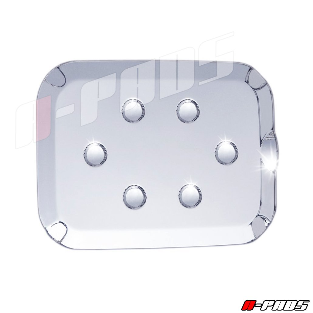 Chromed Fuel Tank A-PADS Chrome Gas Door Cover for Ford F250 SUPER DUTY 2011-2016