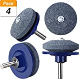#4: Jovitec 4 Pack Lawn Mower Sharpener Lawnmower Blade Sharpener for Power Drill Hand Drill