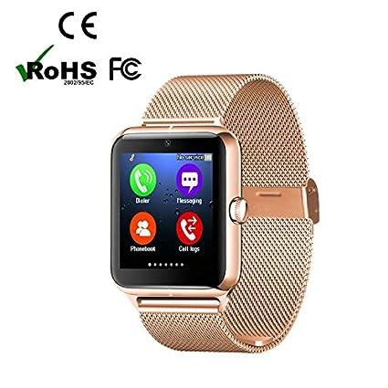 Bluetooth smart watch relojes teléfono podómetro reloj inteligente, Pantalla Táctil en Color,Monitor de