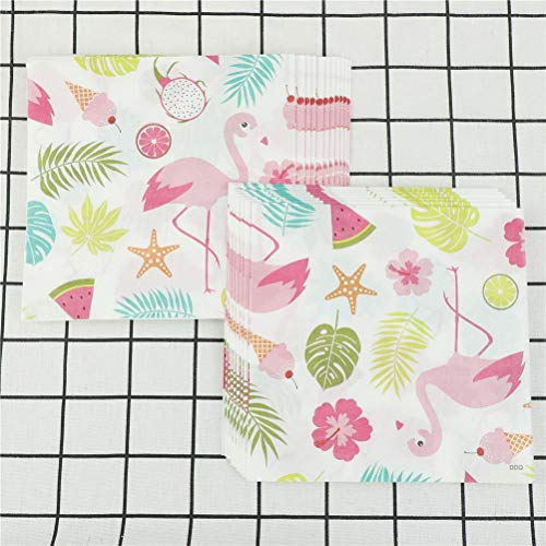 Disposable Party Tableware - 20pcs Creative Disposable Flamingo Pineapple Monstera Leaves Portable Baby Shower Table Paper - Party Tableware Disposable