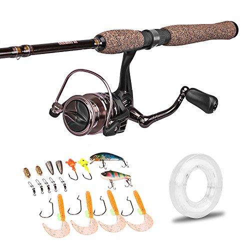 PLUSINNO Spinning Rod and Reel Combos FULL KIT Graphite B...