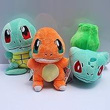 Pokemon Bulbasaur Charmander Squirtle soft Plush Stuffed Animals Doll Kids Toys 3pcs/Set