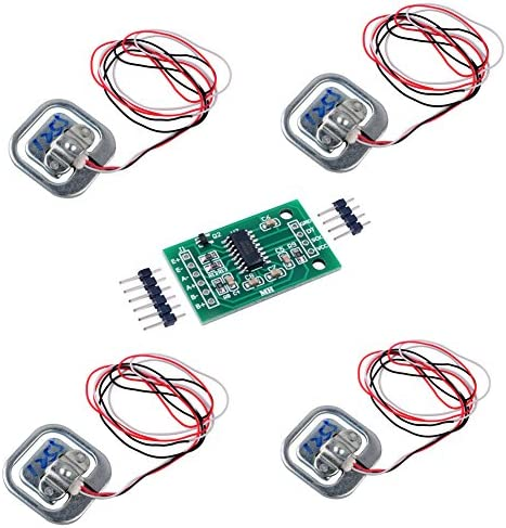 4 stücke Menschlichen Waage Wägezelle Gewichtungssensor 50 KG halbe brücke mit Verstärker HX711 AD Modul Dehnungsmessgerät Badezimmerwaage für Arduino