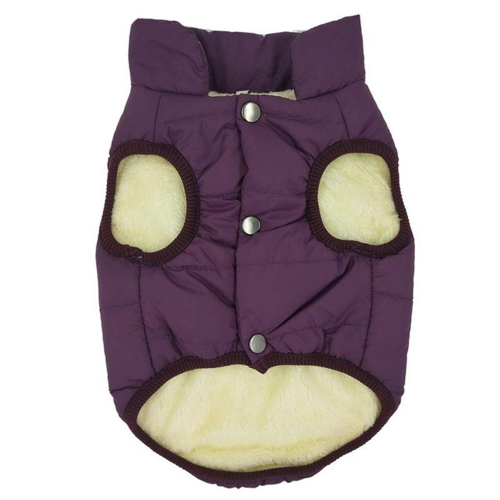 Purple 2XL Purple 2XL Jim Hugh Dog Coat Jacket Pet Cat Clothing Warm Winter Dog Clothes for Small Medium Large Dogs Cats Winter Outfits