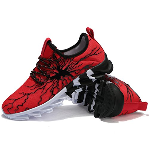 Casual Running Fitness Gym de Sports Hommes de athlétique Sneakers Outdoor Chaussures Rouge Chaussures Trail Course Basket Garcon SUADEEX Mode Multisports CZTqRwq