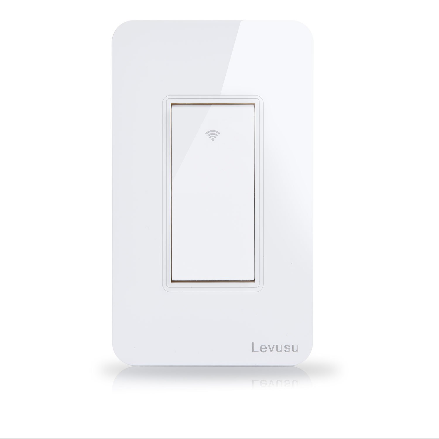 Levusu Smart Wi-Fi Light Wall Switch, Rocker Switch, Timing Function, Wireless Remote Control Switch, Grounding, Compatible with Alexa Echo, White (Rocker switch)
