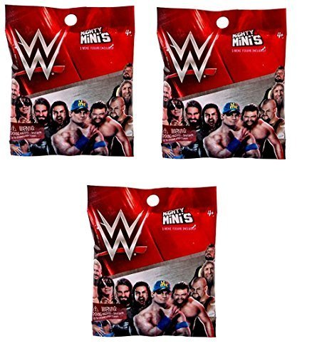Wrestling Action Figure Series (WWE Mattel Wrestling Mighty Mini's Figure Surprise Mystery Pack SERIES 1 Set of 3)