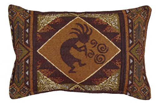 Kokopelli Southwest 1LAP2GO Exclusive 9''x12'' Decorative Tapestry Toss Pillow Made in the USA by Simply Home