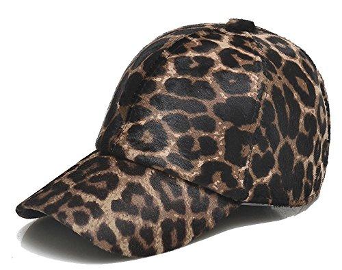 con Invierno Unisexo de de Cuero Piel Béisbol Gorra Leopardo de Ajustable de Estampado Roffatide Orejeras Sombrero zZW7dqAxww