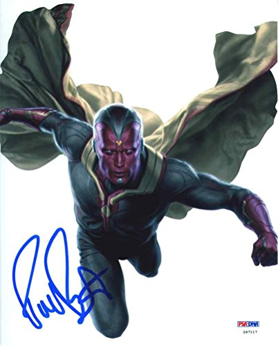 (Paul Bettany Avengers: Age of Ultron Signed 8x10 Photo Certified Authentic PSA/DNA)