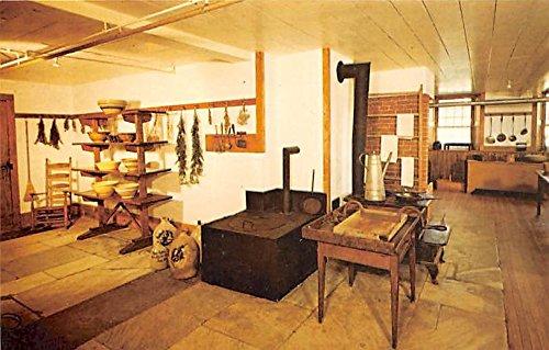 Communal Cook Room, 1830 Brick Dwelling Hancock, Massachusetts, MA, USA Postcard