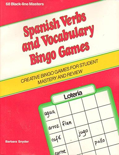 Spanish Verbs and Vocabulary Bingo Games (1st Through 2nd) -
