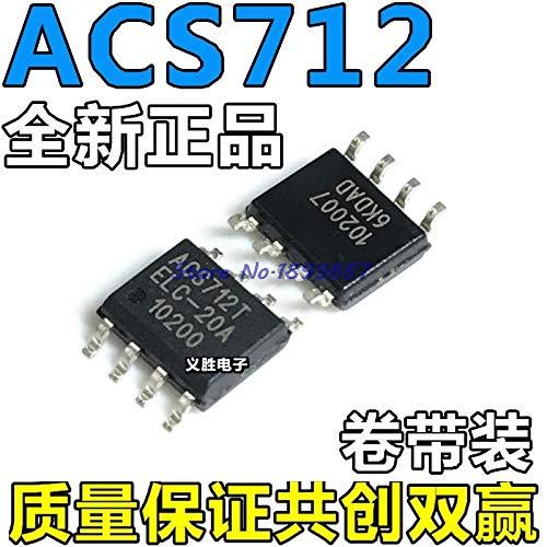 Cailiaoxindong 1pcs/lot ACS712-20A ACS712 712 ACS712ELCTR-20A-T Sensor Current Hall 20A AC/DC SOP-8