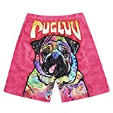 Couple Beach Pants Quick-Drying Fashion 3D Digital Printing Puppy Loose Leisure Shorts Men's Tide,Photo Color,M