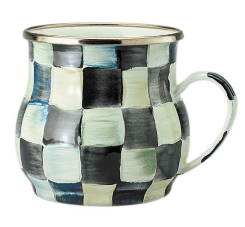 Courtly Check (MacKenzie-Childs Courtly Check Enamel Mug 4.25