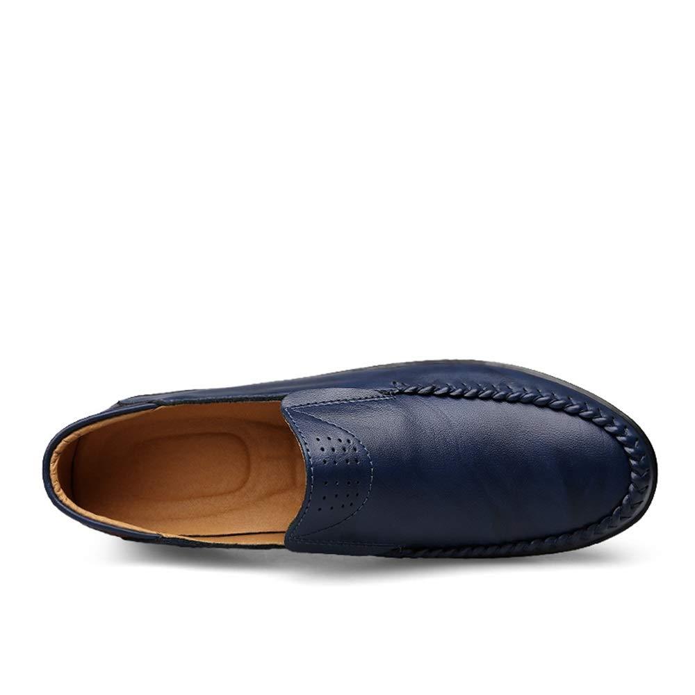Herren Penny Loafers Leichte Slip-on Runde Toe Loafers Loafers Loafers Obermaterial aus Leder Flache gefütterte Driving Dress Schuhe Langlebig Atmungsaktiv,Grille Schuhe (Farbe   Rot, Größe   42 EU)  a24afd
