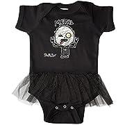 inktastic - Metal Face Infant Tutu Bodysuit Newborn Black - Gus Fink Studios
