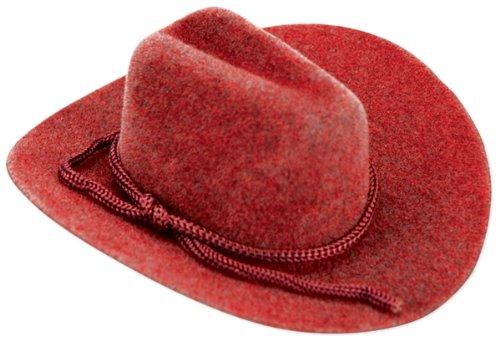 Cowboy Hat Rope Trim Red