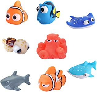 Baby Bath Toys Finding Nemo Dory Float Spray Water Squeeze Toys Soft Rubber Bathroom Play Animals Children Bath Clownfish Toy