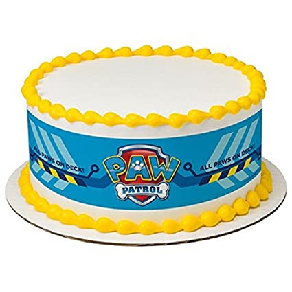 Wondrous Licensed Paw Patrol Birthday Designer Strips Edible Cake Side Funny Birthday Cards Online Fluifree Goldxyz